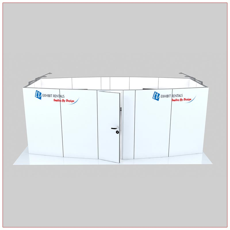 Trade Show Conference Room Rental Package C4 - Front View - LV Exhibit Rentals in Las Vegas