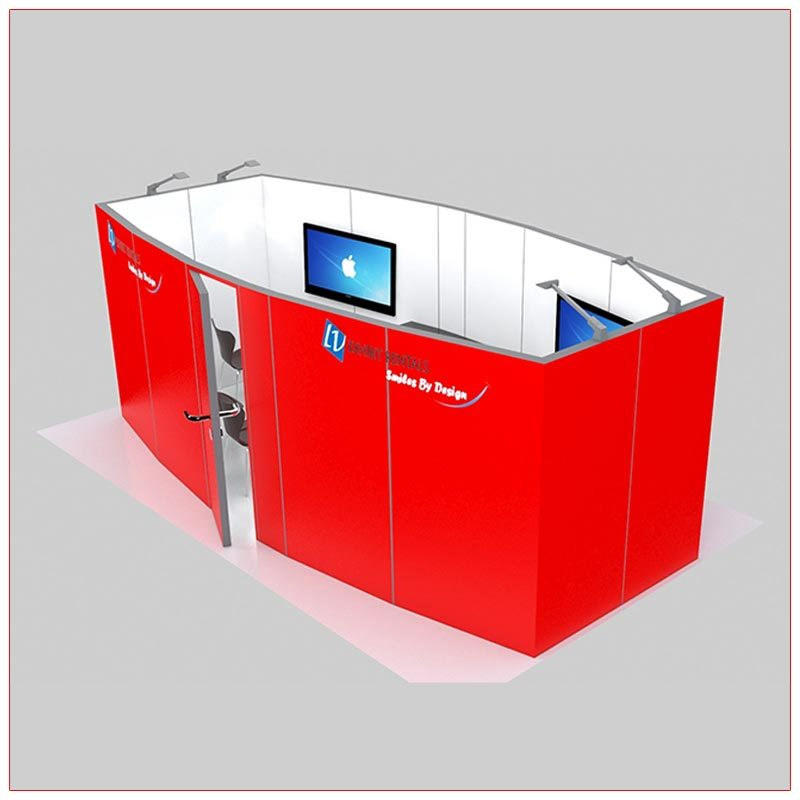 Trade Show Conference Room Rental Package C4 - Side View - LV Exhibit Rentals in Las Vegas