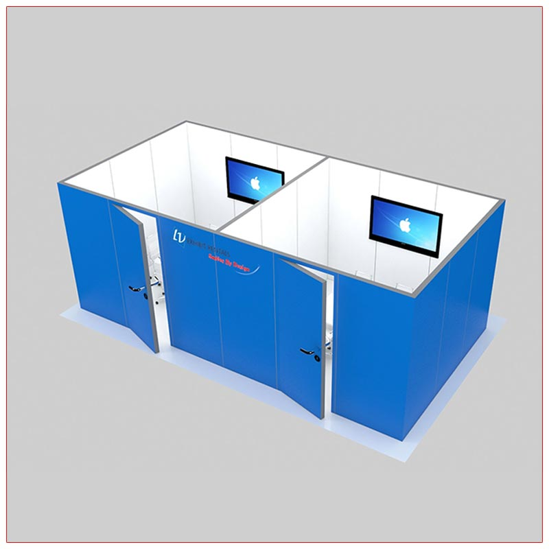 Trade Show Conference Room Rental Package C5 - Angle View LV Exhibit Rentals in Las Vegas