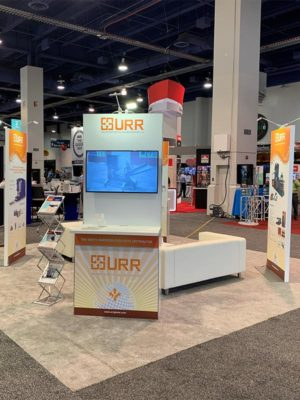 Trade Show Double-Sided Kiosk Rentals - LV Exhibit Rentals in Las Vegas