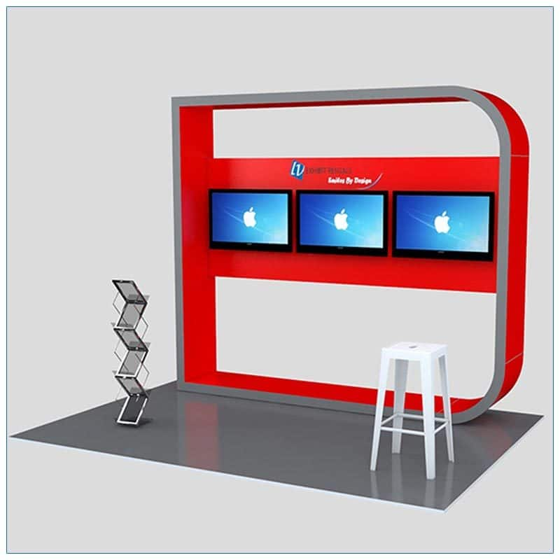 Trade Show Kiosk Rental Package K5 - Angle View - LV Exhibit Rentals in Las Vegas