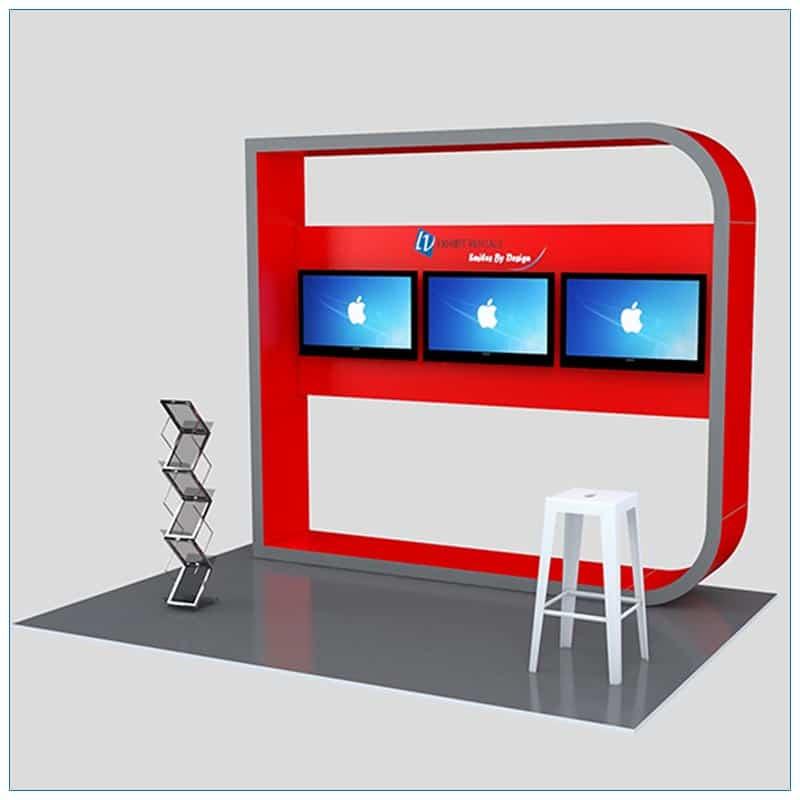 Trade Show Kiosk Rental Package K5 - Angle View - LV Exhibit Rentals in Las Vegas