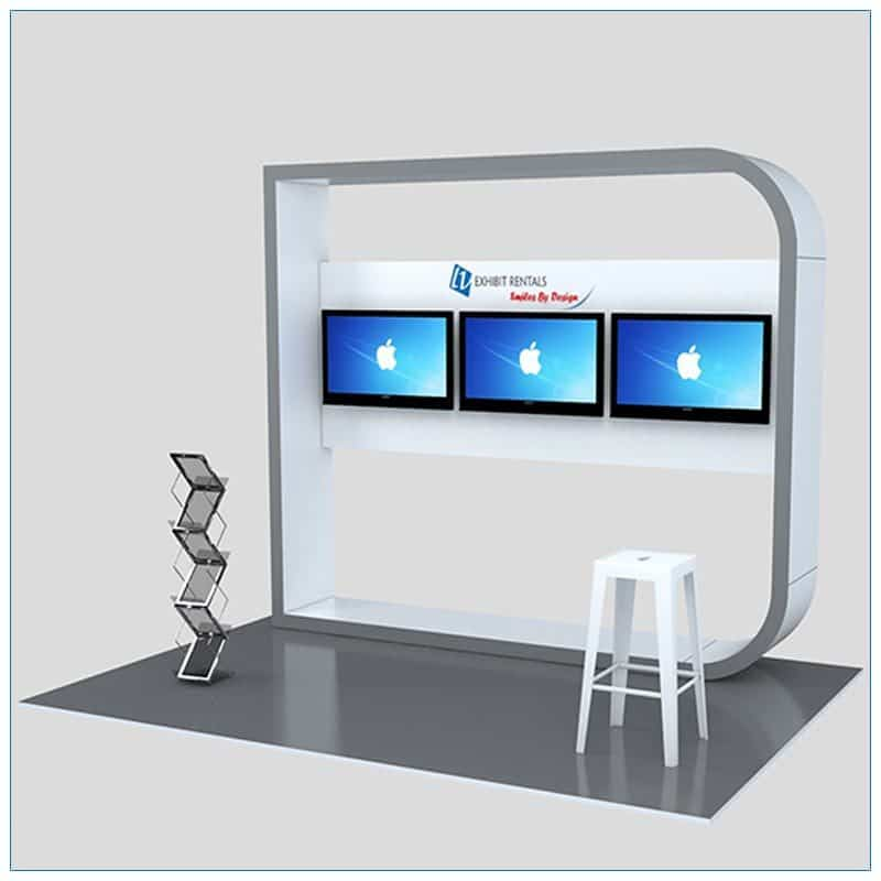 Trade Show Kiosk Rental Package K5 - Front View - LV Exhibit Rentals in Las Vegas