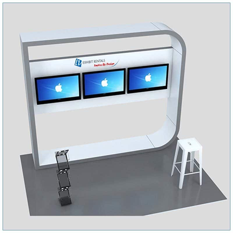 Trade Show Kiosk Rental Package K5 - LV Exhibit Rentals in Las Vegas