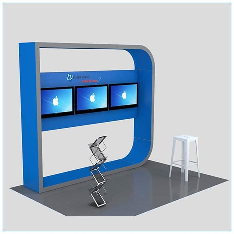 Trade Show Kiosk Rental Package K5 - Side View - LV Exhibit Rentals in Las Vegas