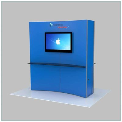 Trade Show Kiosk Rental Package K6 - Angle View - LV Exhibit Rentals in Las Vegas