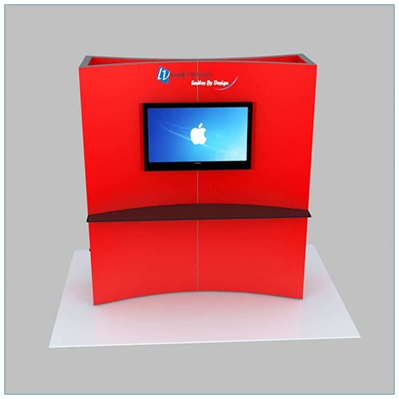 Trade Show Kiosk Rental Package K6 - Front View - LV Exhibit Rentals in Las Vegas