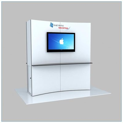 Trade Show Kiosk Rental Package K6 - LV Exhibit Rentals in Las Vegas