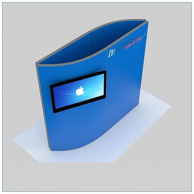 Trade Show Kiosk Rental Package K7 - Front Angle View - LV Exhibit Rentals in Las Vegas