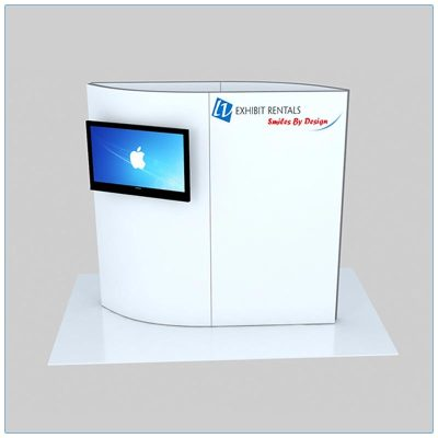 Trade Show Kiosk Rental Package K7 - Front View - LV Exhibit Rentals in Las Vegas