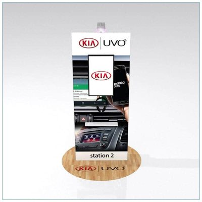 Trade Show Kiosk Rental Package K8 - Rear View - LV Exhibit Rentals in Las Vegas