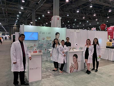 10x10 Trade Show Booth Rental Package 120 - iFacial Pro - IECSC 2019