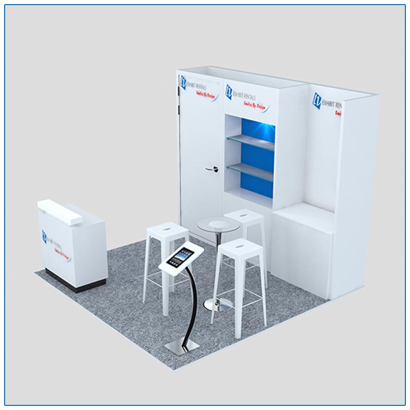 10x10 Trade Show Booth Rental Package 125 - Side View - LV Exhibit Rentals in Las Vegas