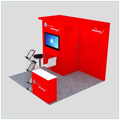 10x10 Trade Show Booth Rental Package 126 -Angle View - LV Exhibit Rentals in Las Vegas