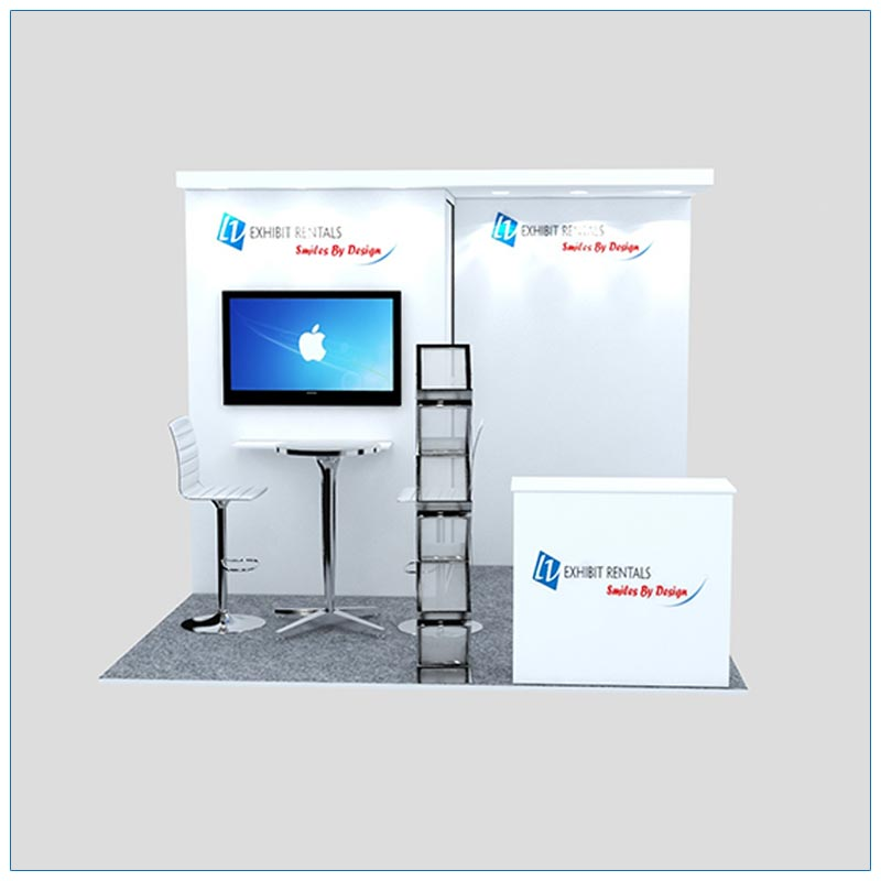 10x10 Trade Show Booth Rental Package 126 - Front View - LV Exhibit Rentals in Las Vegas