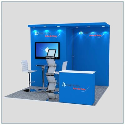 10x10 Trade Show Booth Rental Package 126 - LV Exhibit Rentals in Las Vegas