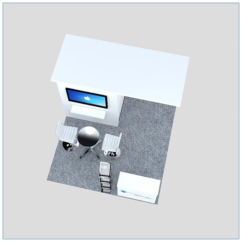 10x10 Trade Show Booth Rental Package 126 - Top-Down View - LV Exhibit Rentals in Las Vegas