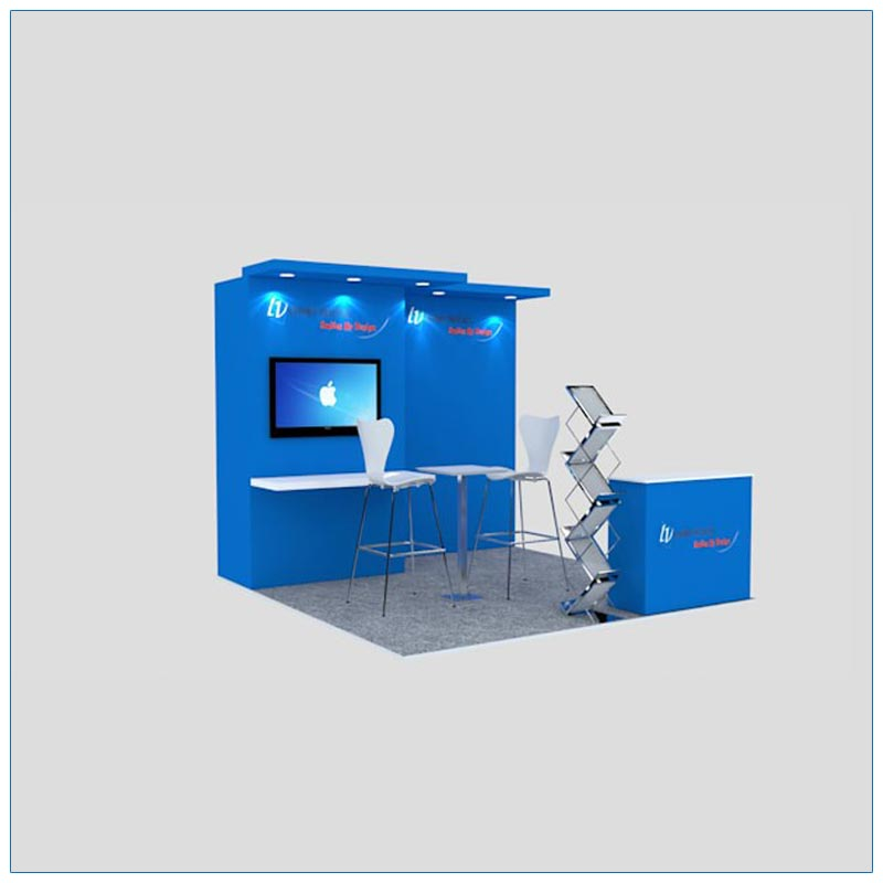 10x10 Trade Show Booth Rental Package 127 - Angle View - LV Exhibit Rentals in Las Vegas