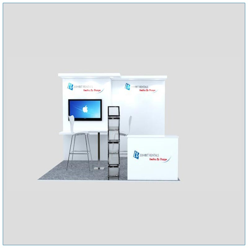 10x10 Trade Show Booth Rental Package 127 - Front View - LV Exhibit Rentals in Las Vegas