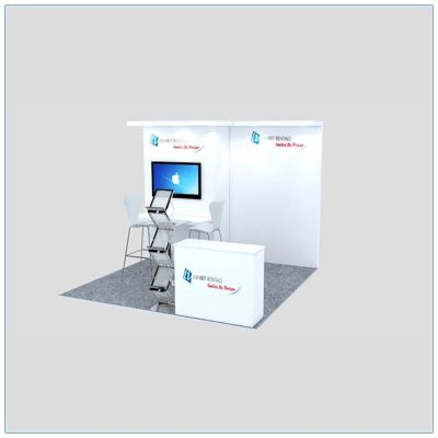 10x10 Trade Show Booth Rental Package 127 - LV Exhibit Rentals in Las Vegas