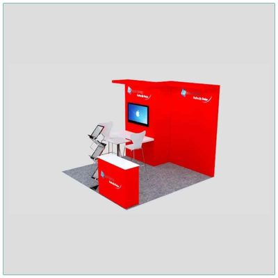 10x10 Trade Show Booth Rental Package 127 - Side View - LV Exhibit Rentals in Las Vegas
