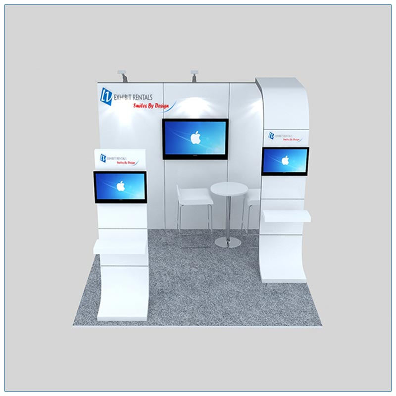 10x10 Trade Show Booth Rental Package 128 - Front View - LV Exhibit Rentals in Las Vegas