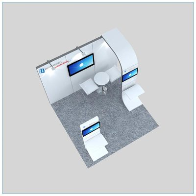 10x10 Trade Show Booth Rental Package 128 - Top-Down View - LV Exhibit Rentals in Las Vegas