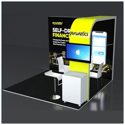 10x10 Trade Show Booth Rental Package 129 - LV Exhibit Rentals in Las Vegas