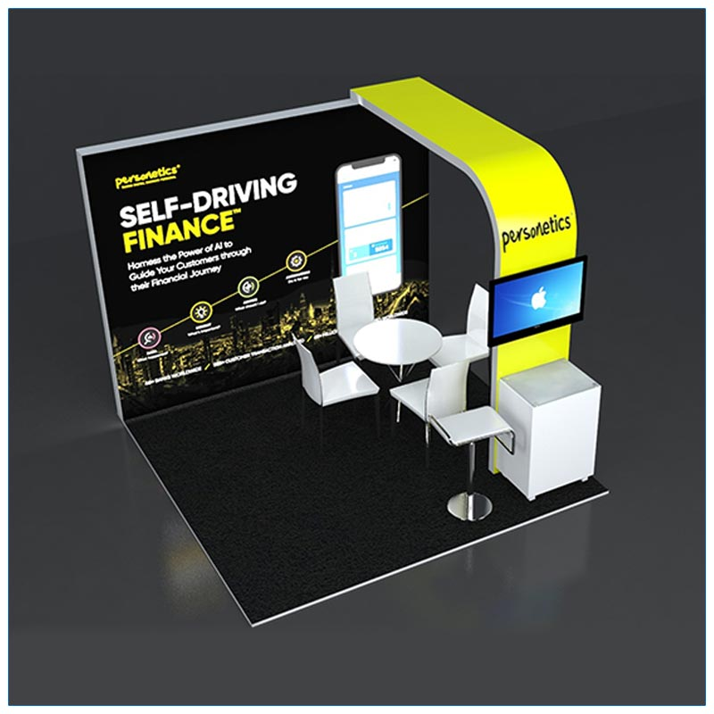 10x10 Trade Show Booth Rental Package 129 - Top-Down View - LV Exhibit Rentals in Las Vegas