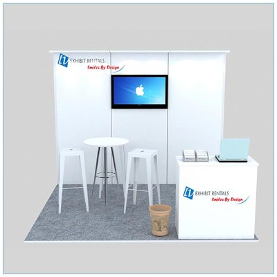 10x10 Trade Show Booth Rental Package 130 - Front View - LV Exhibit Rentals in Las Vegas