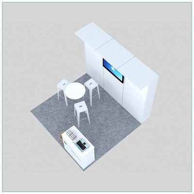 10x10 Trade Show Booth Rental Package 130 - Top-Down View - LV Exhibit Rentals in Las Vegas