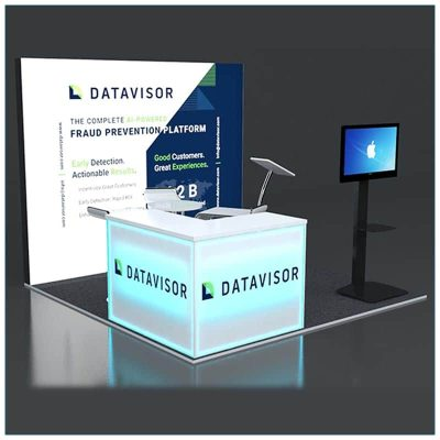 10x10 Trade Show Booth Rental Package 131 - Angle View - LV Exhibit Rentals in Las Vegas