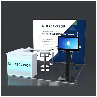 10x10 Trade Show Booth Rental Package 131 - LV Exhibit Rentals in Las Vegas