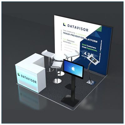 10x10 Trade Show Booth Rental Package 131 - Top-Angle View - LV Exhibit Rentals in Las Vegas