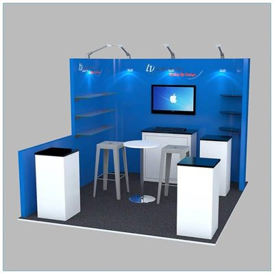 10x10 Trade Show Booth Rental Package 132 - LV Exhibit Rentals in Las Vegas