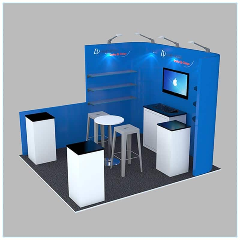 10x10 Trade Show Booth Rental Package 132 - Side View - LV Exhibit Rentals in Las Vegas