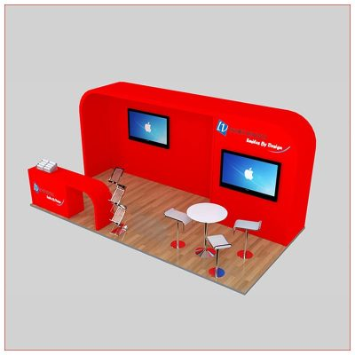 10x20 Trade Show Booth Rental Package 239 - Angle View 2 - LV Exhibit Rentals in Las Vegas