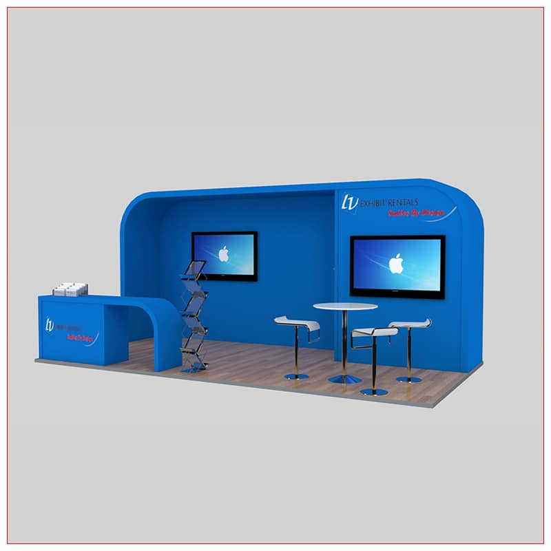 10x20 Trade Show Booth Rental Package 239 - Angle View - LV Exhibit Rentals in Las Vegas
