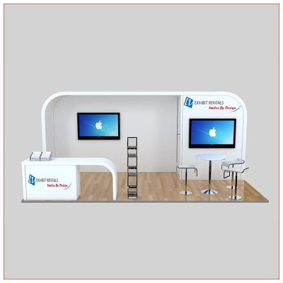 10x20 Trade Show Booth Rental Package 239 -Front View - LV Exhibit Rentals in Las Vegas