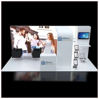 10x20 Trade Show Booth Rental Package 240 - Front View - LV Exhibit Rentals in Las Vegas