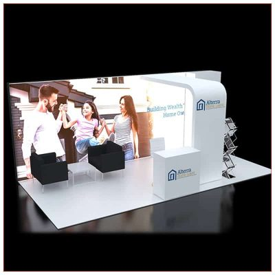 10x20 Trade Show Booth Rental Package 240 - LV Exhibit Rentals in Las Vegas