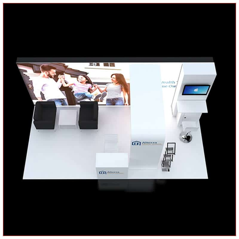 10x20 Trade Show Booth Rental Package 240 - Top-Down View - LV Exhibit Rentals in Las Vegas