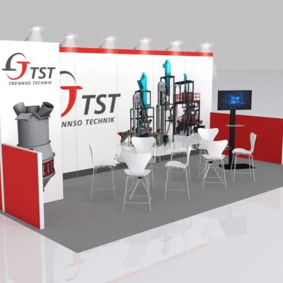 10x20 Trade Show Booth Rental Package 241 - Angle View - LV Exhibit Rentals in Las Vegas