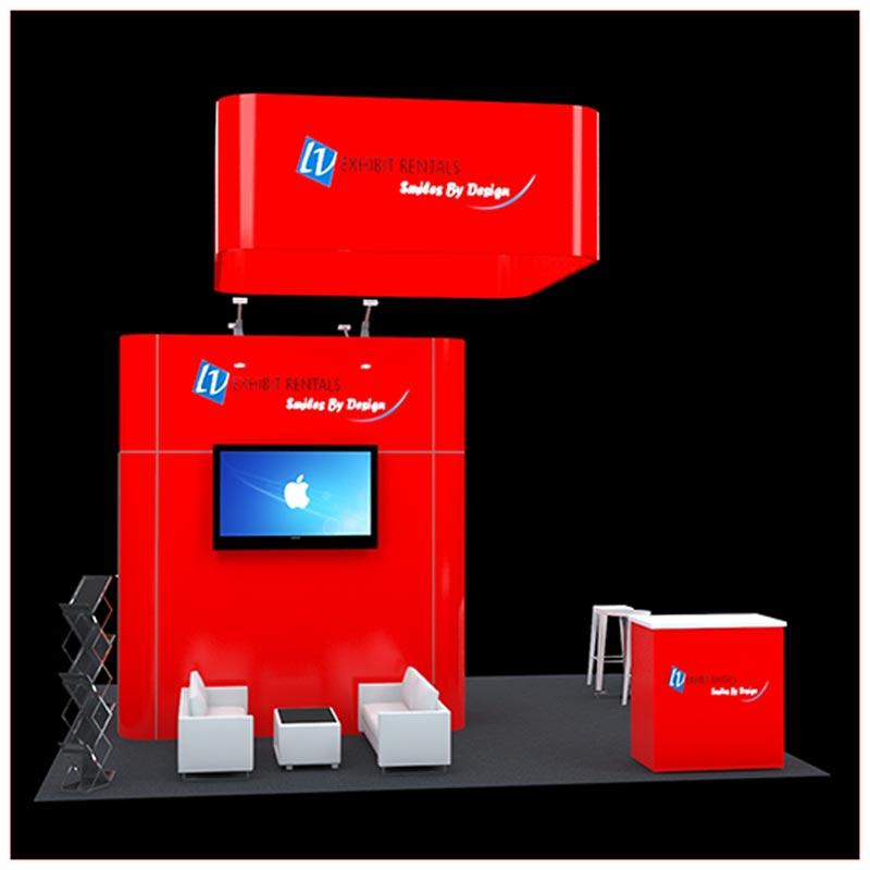 20x20 Trade Show Booth Rental Package 420 - LV Exhibit Rentals in Las Vegas