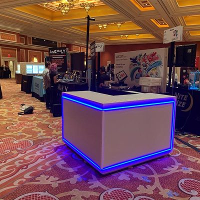 Trade Show Counter Rental Package C2 - Front View - LV Exhibit Rentals in Las Vegas