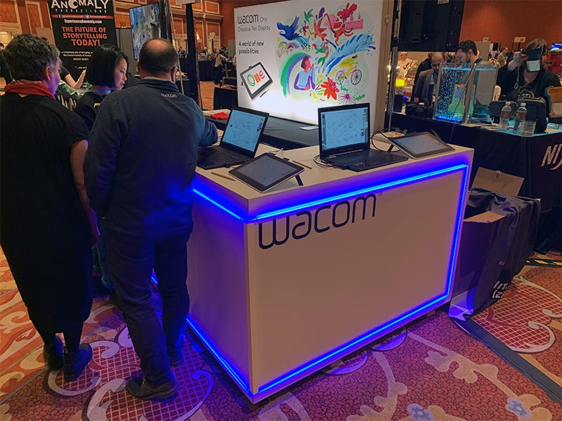 Trade Show Counter Rental Package C2 - Wacom CES 2020 - LV Exhibit Rentals in Las Vegas