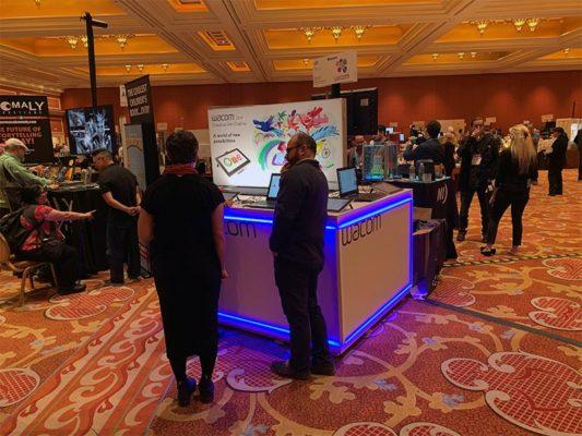 Trade Show Counter Rental Package C2 - Wacom - LV Exhibit Rentals in Las Vegas
