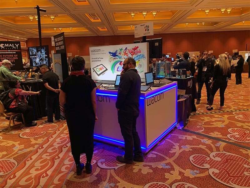 Trade Show Counter Rental Package C2 - Wacom - LV Exhibit Rentals in Las Vegas
