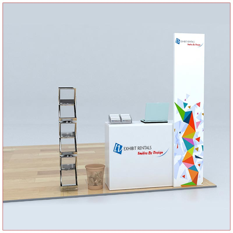 Trade Show Counter Rental Package C4 - Angle View - LV Exhibit Rentals in Las Vegas