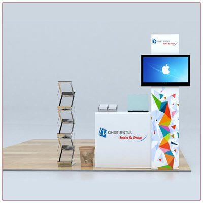 Trade Show Counter Rental Package C4 - Front View - LV Exhibit Rentals in Las Vegas
